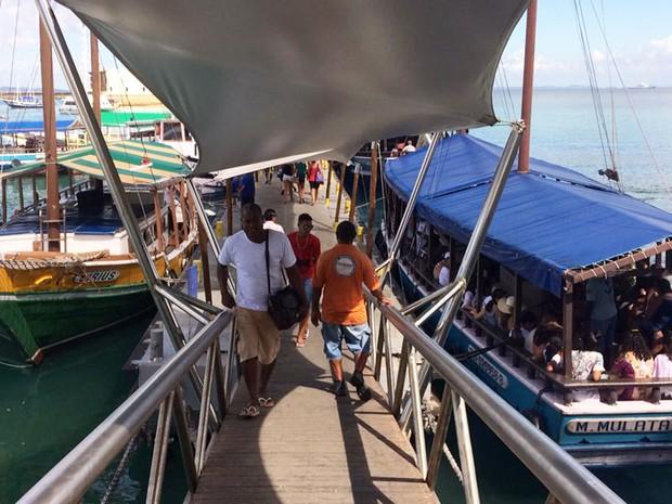 Travessia para Mar Grande terá último horário às 18h30 (Foto  Rafael  Teles G1 b27e87adb68b2