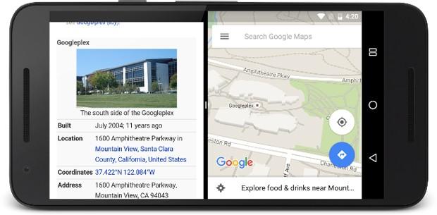 Android N permitirá executar mais de um aplicativo simultaneamente na mesma tela (Foto: Divulgação/Google)