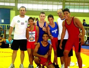 Luta Greco-romana, atletas de Mongaguá (Foto: Divulgação / Prefeitura Municipal de Mongaguá)