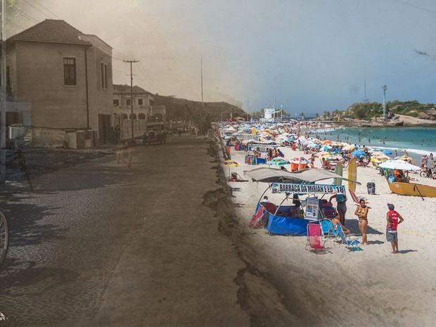 Arpoador antes e depois (Foto: Augusto Malta e Marcello Cavalcanti / Divulgação)