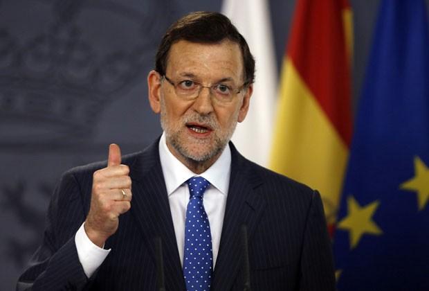 O primeiro-ministro espanhol, Mariano Rajoy, em foto desta segunda-feira (15) (Foto: Sergio Perez/Reuters)
