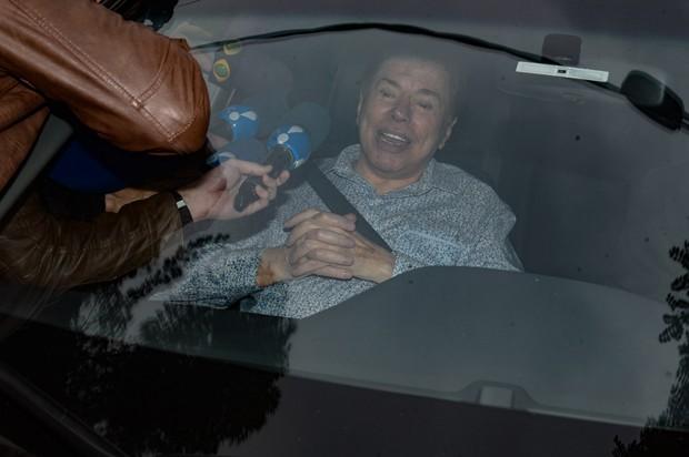 Silvio Santos chegando para o casamento da filha (Foto: Francisco Cepeda/AgNews)