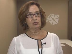 Vice-reitora falou que a unversidade combate o trote violento (Foto: Reprodução / TV TEM)