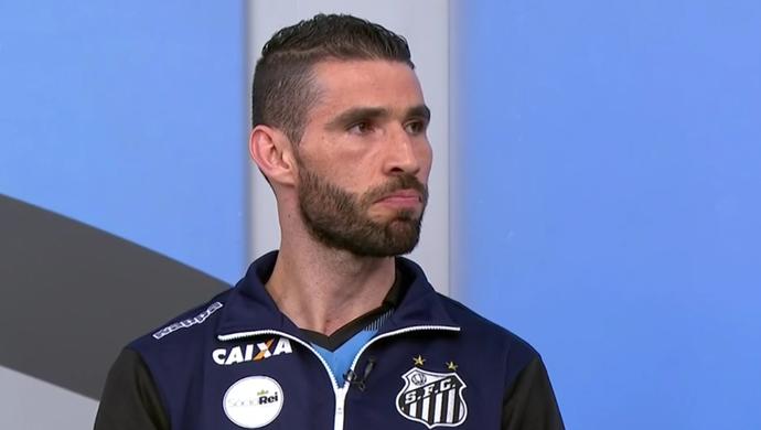 Vanderlei, goleiro do Santos (Foto: Reprodução SporTV)