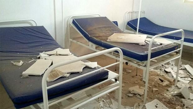 Apesar dos danos dentro da enfermaria, ninguém se feriu (Foto: Cedida)
