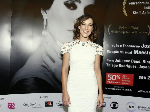 Adriana Birolli em estreia de peça na Zona Sul do Rio (Foto: Ag. News)