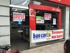 Greve dos bancários fecha agências na Baixada Santista, SP