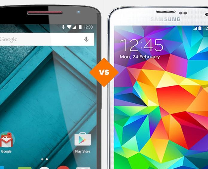 Moto X Play vs Galaxy S5 (Foto: Arte/TechTudo)
