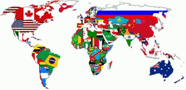 Territórios com respectivas bandeiras (Foto: Reprodução)