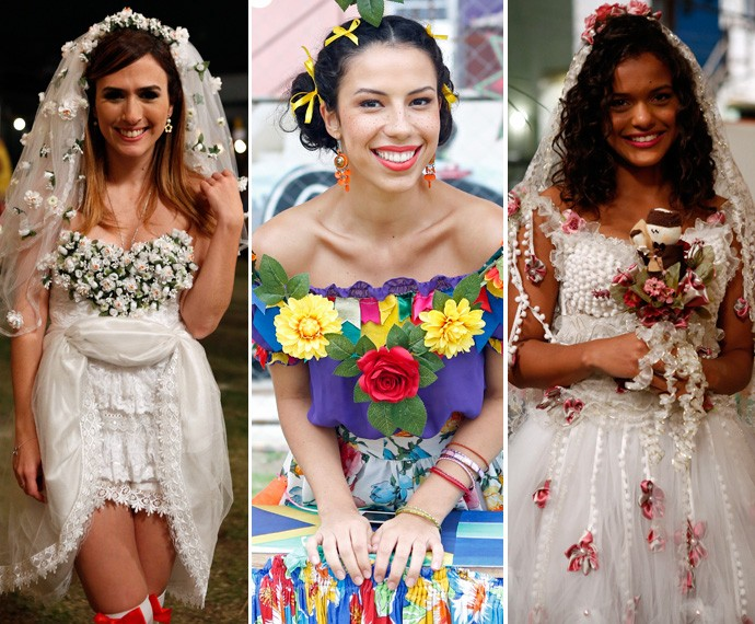 Olha que charme os looks de Dndara, Urbana e Lilica  (Foto: Ellen Soares / Gshow)