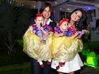 Famosos vão ao aniversário de Maya e Kiara, filhas gêmeas de Leandro, do KLB, e Natália Guimarães