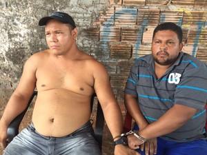 Homens foram presos suspeitos de integrar quadrilha que rouba combustíveis (Foto: Alessandra Rodrigues/Mirante AM)