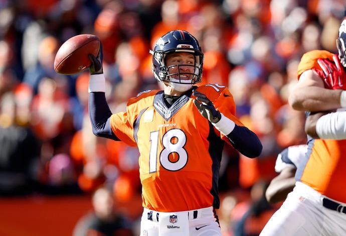 Payton Manning , New England Patriots x Denver Broncos NFL (Foto: Getty Images)
