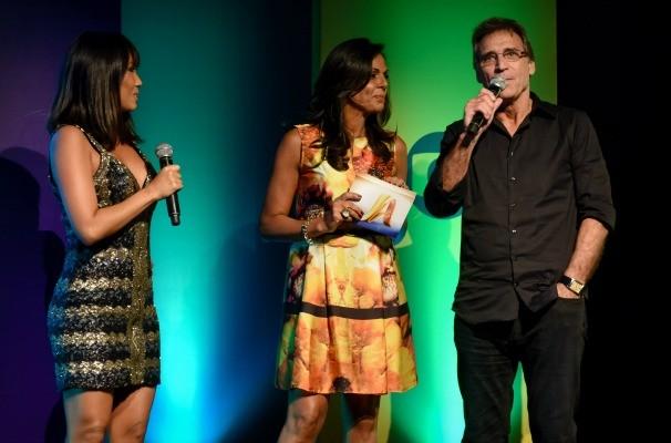 Cristina Ranzolin conversou com os atores convidados Daniele Suzuki e Herson Capri no Vem_Aí (Foto: Franco Rodrigues/Divulgação)