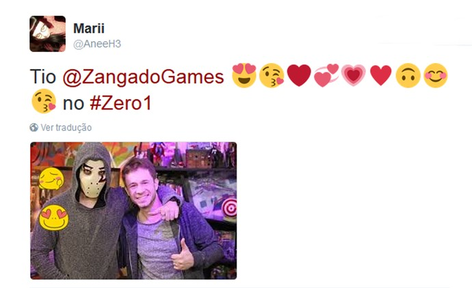 Internauta comenta o Zero1 nas redes (Foto: Reprodução da internet)
