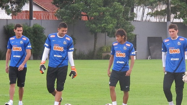 Neymar, Ganso, Rafael, Santos (Foto: Marcelo Hazan / Globoesporte.com)