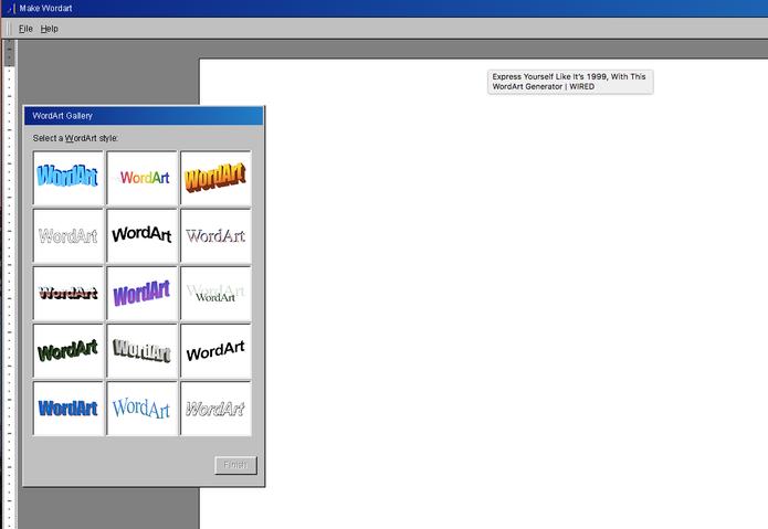 Site simula Word Art e Microsoft Office de 1990 (Foto: Divulgação/WordArt Maker)