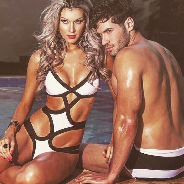 Tatiele Polyana com o namorado, Roni Mazon, em ensaio (Foto: Reprodução/ Instagram)