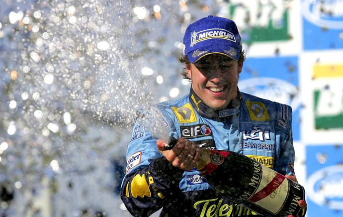 Fernando Alonso Renault Formula 1 f-1 Brasil 2006 (Foto: Getty Images)