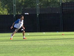 Thiago Ribeiro, atacante do Santos (Foto: Lincoln Chaves)