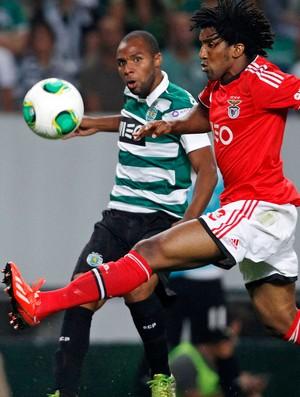 Andre Carrillo sporting Bruno Cortez benfica português (Foto: Agência Reuters)