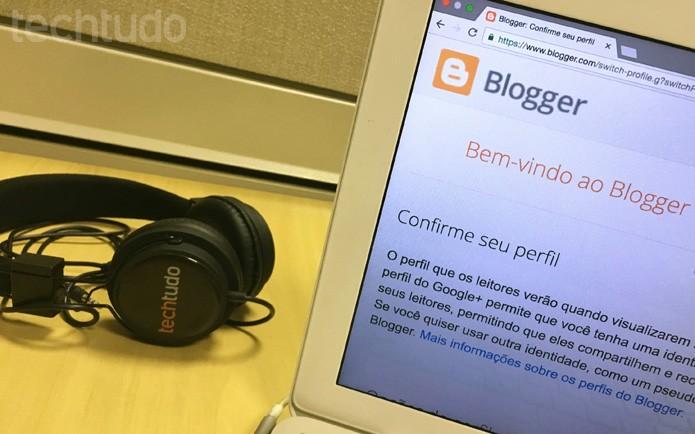 Crie seu próprio blog com o Blogger (Foto: Camila Peres/TechTudo)