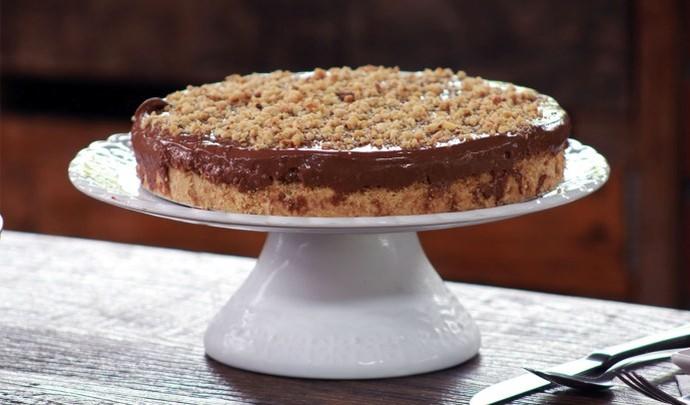 Cheesecake de nutella para sobremesa de Natal  (Foto: Reprodução TV Diário / Nicolas Puglisi)