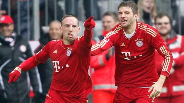 Ribery Thomas Muller gol Bayern de Munique (Foto: AP)