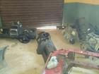 Polícia descobre desmanche de carros em Santana da Vargem, MG