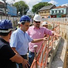 Escavações avançam sob a linha férrea (Mogi Agora)