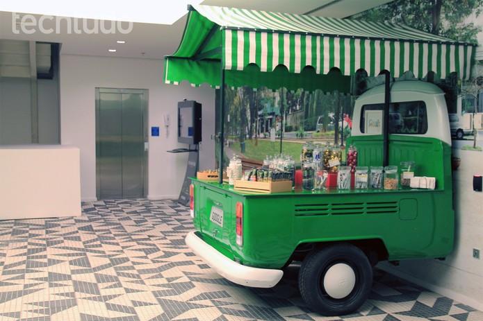 Google Brasil oferece aos funcionários um ambiente descontraído, com serviços de alimentação (Foto: Isadora Díaz/TechTudo)