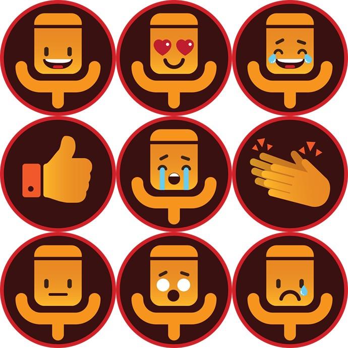 Avalie cada apresentação com os emojis oficiais do The Voice Brasil (Foto: Gshow)