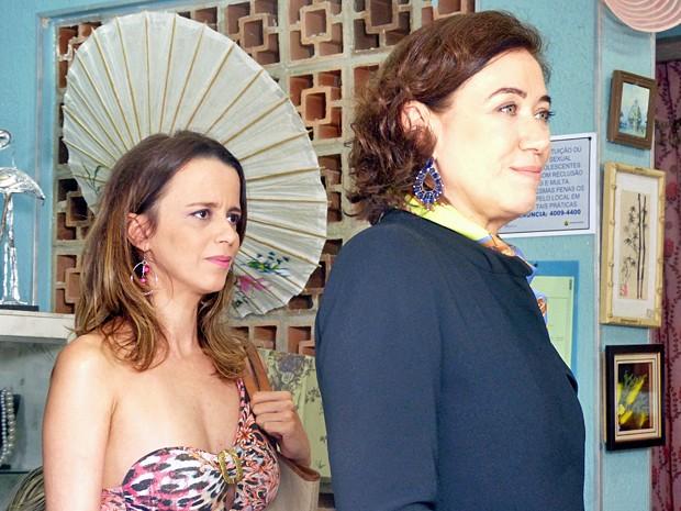 Dani Barros e Lilia Cabral em cena como Lorraine e Maria Marta (Foto: Império / TV Globo)