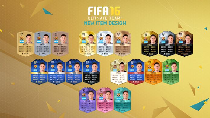 Fifa 16 divulga novos designs das cartas do Ultimate Team (Foto: Reprodução/EA Sports)