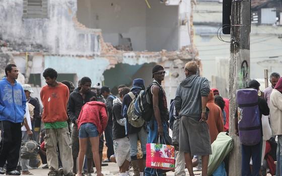 Moradores de rua na Cracolândia, região central de São Paulo (Foto: Alex Almeida / Editora Globo)