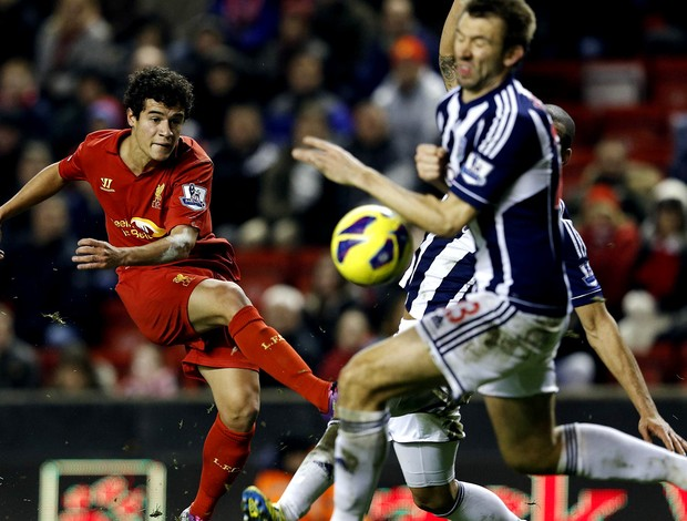 Philippe Coutinho liverpool west bromwhich (Foto: Agência Reuters)