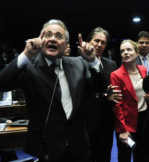 TENSÃO NO SENADO (Geraldo Magela/Agência Senado)