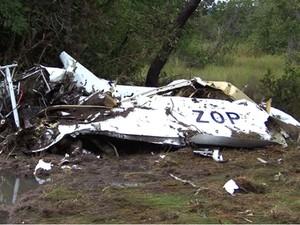 Aeronave explodiu quando estava no ar, diz Polícia Militar (Foto: Site Plug News)