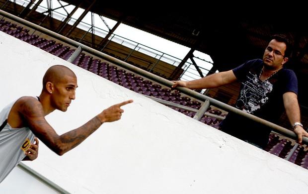 Rafael Marques treino Botafogo Araraquara  (Foto: Cleber Akamine / Globoesporte.com)