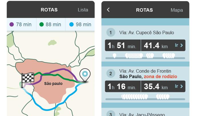 Waze passa a mostrar rotas permitidas em dia de rodízio em São Paulo (Foto: Divulgação/Waze)