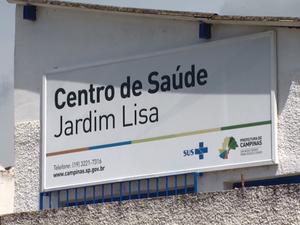 Fachada do Centro de Saúde do Jardim Lisa em Campinas (SP) (Foto: Reprodução/ EPTV)