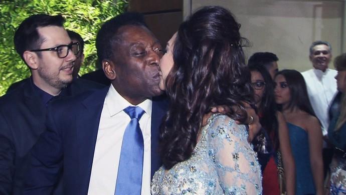 Pelé se casa pela terceira vez em Guarujá (Foto: Reprodução / TV Tribuna)