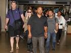 Demi Lovato desembarca em São Paulo para show