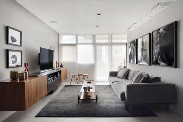 Sala cinza 18 ideias para a decora o casa vogue - Tom interiores ...