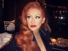 Christina Aguilera exibe novo visual em evento