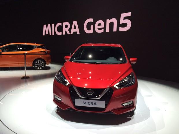 Nissan March é chamado de Micra na Europa (Foto: Luciana de Oliveira/G1)