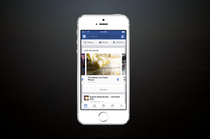 Os usuários pediram e o Facebook atendeu: vem aí o 'Salvar', o bookmark da rede social (Foto: Divulgação/Facebook)