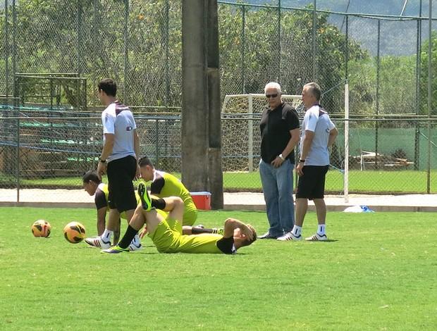Dinamite e Dorival treino Vasco (Foto: Raphael Zarko)