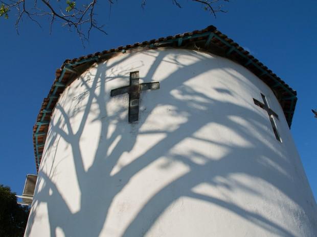 Igreja de Santo Antônio é um dos primeiros marcos da história de Porto Velho (Foto: Jenifer Zambiazzi/G1)