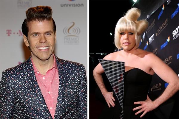 Perez Hilton decidiu ir fantasiado como Lady Gaga na décima festa de Halloween da Heidi Klum. (Foto: Getty Images e Divulgação)